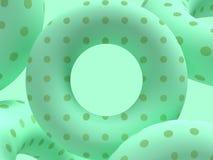 Πράσινο τρισδιάστατο δίνοντας αφηρημένο υπόβαθρο ομάδας μετεωρισμού μορφής σκηνής στενό επάνω γεωμετρικό στοκ φωτογραφίες