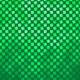 Πράσινο τριφύλλι τέσσερα ιρλανδικό σημείο Πόλκα ημέρας του ST Πάτρικ τριφυλλιού φύλλων Στοκ Εικόνες