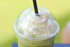 Πράσινο τσάι ή πράσινο τσάι γάλακτος Στοκ Εικόνα