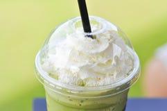 Πράσινο τσάι ή πράσινο frappuccino τσαγιού Στοκ εικόνες με δικαίωμα ελεύθερης χρήσης