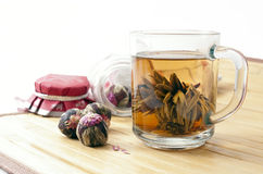 πράσινο τσάι ελίτ στοκ εικόνες