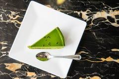 πράσινο τσάι κέικ Στοκ Φωτογραφία