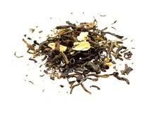 Πράσινο τσάι με τα φρούτα στοκ εικόνες