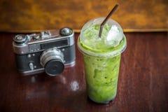Πράσινο τσάι με τον πάγο Στοκ Εικόνες