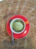 πράσινο τσάι πάγου κρέμας Στοκ Εικόνες
