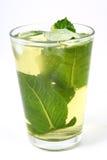 πράσινο τσάι πάγου Στοκ Εικόνες