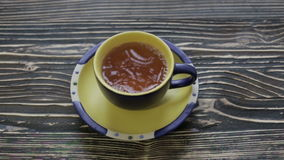 πράσινο τσάι φλυτζανιών φιλμ μικρού μήκους