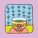 πράσινο τσάι Ελεύθερη απεικόνιση δικαιώματος