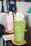 Πράσινο τσάι frappe Στοκ εικόνες με δικαίωμα ελεύθερης χρήσης