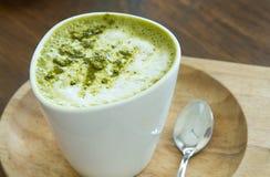 Πράσινο τσάι Latte Matcha Στοκ εικόνα με δικαίωμα ελεύθερης χρήσης