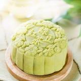 πράσινο τσάι mooncake Στοκ φωτογραφία με δικαίωμα ελεύθερης χρήσης
