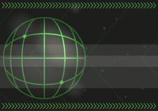 Πράσινο υπόβαθρο βελών και συντεταγμένων χαρτών διανυσματική απεικόνιση