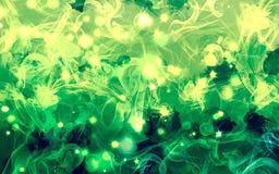 Πράσινο υπόβαθρο καπνού σπινθηρίσματος Στοκ Εικόνα