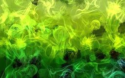 Πράσινο υπόβαθρο κτυπημάτων βουρτσών καπνού Στοκ φωτογραφία με δικαίωμα ελεύθερης χρήσης