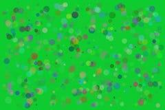 Πράσινο υπόβαθρο 2 κύκλων Στοκ Φωτογραφία