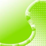 Πράσινο υπόβαθρο με τα λωρίδες και τις καρδιές Στοκ φωτογραφία με δικαίωμα ελεύθερης χρήσης