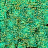 Πράσινο υπόβαθρο με τις μουτζουρωμένες λέξεις της αγάπης και των καρδιών διανυσματική απεικόνιση
