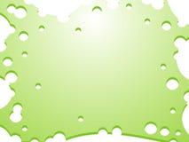 Πράσινο υπόβαθρο με τους κενούς κύκλους Στοκ φωτογραφία με δικαίωμα ελεύθερης χρήσης