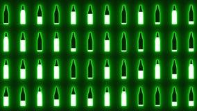 Πράσινο υπόβαθρο μπουκαλιών φιλμ μικρού μήκους