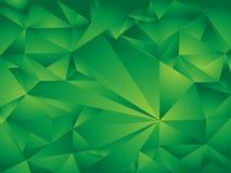 Πράσινο υπόβαθρο πολυγώνων Στοκ Φωτογραφία
