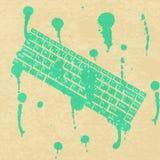 Πράσινο υπόβαθρο πληκτρολογίων έννοιας Βρώμικος υπολογιστής συμβόλων διανυσματική απεικόνιση