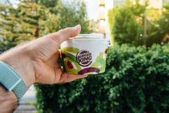 Πράσινο υπόβαθρο σαλάτας της Burger King φρέσκο Στοκ Εικόνες