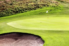 Πράσινο υπόβαθρο της Γαλλίας φλυτζανιών του Ryder γηπέδων του γκολφ Στοκ φωτογραφία με δικαίωμα ελεύθερης χρήσης