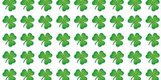 Πράσινο υπόβαθρο φύλλων τριφυλλιού σχεδίων τριφυλλιών απεικόνιση αποθεμάτων