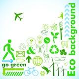 Πηγαίνετε πράσινη κάρτα Στοκ φωτογραφίες με δικαίωμα ελεύθερης χρήσης