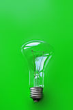 Πράσινο υπόβαθρο Lightbulb Στοκ Εικόνες