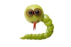 Πράσινο φίδι μήλων Στοκ Φωτογραφία