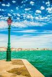 Πράσινο φανάρι στο νησί Giudecca Στοκ φωτογραφία με δικαίωμα ελεύθερης χρήσης