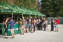 Πράσινο φεστιβάλ Tuborg Στοκ Εικόνες