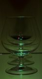 πράσινο φως τρία γυαλιών Στοκ Εικόνες