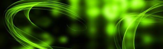 Πράσινο φωτεινό θολωμένο φως Πρόσκληση και ευχετήριες κάρτες Αφηρημένη εορταστική πανοραμική απεικόνιση διάστημα αντιγράφων στοκ εικόνα με δικαίωμα ελεύθερης χρήσης
