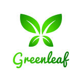 Πράσινο φύλλο, λογότυπο φύλλων Στοκ εικόνες με δικαίωμα ελεύθερης χρήσης