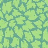 πράσινο φύλλο Το ύφος boho πρότυπο άνευ ραφής Στοκ Εικόνα