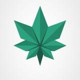Πράσινο φύλλο Origami ελεύθερη απεικόνιση δικαιώματος