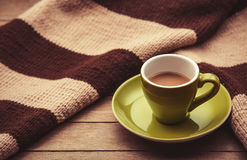 Πράσινο φλυτζάνι του καφέ Στοκ Εικόνες