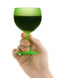 πράσινο χέρι γυαλιού Στοκ φωτογραφία με δικαίωμα ελεύθερης χρήσης