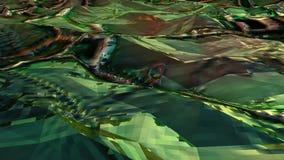 Πράσινο χαμηλό πολυ αφηρημένο υπόβαθρο θάλασσας Χωρίς ραφή loopable φιλμ μικρού μήκους