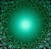 πράσινο χιόνι πλαισίων Χρισ&t απεικόνιση αποθεμάτων