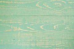 Πράσινο χρωματισμένο ξύλινο υπόβαθρο κινηματογραφήσεων σε πρώτο πλάνο με το σχέδιο των οριζόντιων πινάκων Στοκ Εικόνες