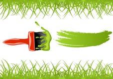 πράσινο χρώμα βουρτσών Στοκ Εικόνες