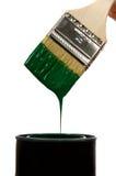 πράσινο χρώμα βουρτσών Στοκ φωτογραφία με δικαίωμα ελεύθερης χρήσης