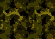 Πράσινο χρώμα σχεδίων Camuflage ελεύθερη απεικόνιση δικαιώματος