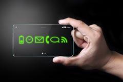 Πράσινο χρώμα apps στο smartphone Στοκ Εικόνες