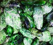 πράσινο χρώμιο-διοψίδιο μετάλλευμα Στοκ Φωτογραφίες