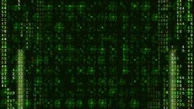 Πράσινο ψηφιακό φουτουριστικό υπόβαθρο υψηλής τεχνολογίας απόθεμα βίντεο