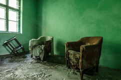 πράσινο δωμάτιο Στοκ φωτογραφίες με δικαίωμα ελεύθερης χρήσης